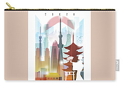Japan Tokyo 2 Carry-all Pouch by Unique Drawing
