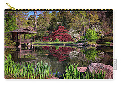 Carry-all Pouch featuring the photograph Japanese Garden At Maymont by Rick Berk