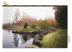 Japanese Garden In Early Autumn Fog Carry-all Pouch