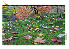 Japanese Maple Tree On A Green Mossy Slope Carry-all Pouch