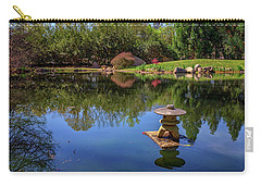 Carry-all Pouch featuring the photograph Japanese Reflections At Maymont by Rick Berk