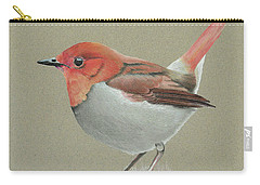 Carry-all Pouch featuring the drawing Japanese Robin by Gary Stamp