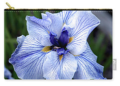 Japanese Water Iris In Blue 2695 H_3 Carry-all Pouch