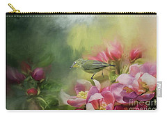 Japanese White-eye On A Blooming Tree Carry-all Pouch by Eva Lechner