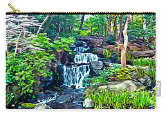 Japanese Waterfall Garden Carry-all Pouch