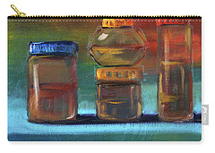 Carry-all Pouch featuring the painting Jars Still Life Painting by Nancy Merkle