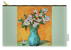 Jasmine Flowers In A Blue Pot Carry-all Pouch