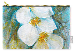 Carry-all Pouch featuring the painting Jasmine by Jasna Dragun