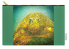 Jasmine The Turtle Carry-all Pouch by Erika Swartzkopf