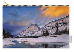 Jasper In The Winter Carry-all Pouch by Dan Jurak