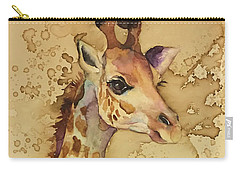 Carry-all Pouch featuring the painting Java Giraffe by Christy Freeman