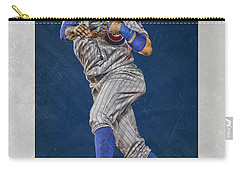 Javier Baez Chicago Cubs Art Carry-all Pouch by Joe Hamilton