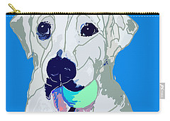 Jax With Ball In Blue Carry-all Pouch