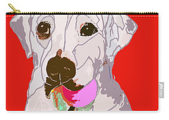 Jax With Ball In Red Carry-all Pouch