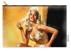 Jayne Mansfield Hollywood Actress And Pinup Carry-all Pouch by Frank Falcon