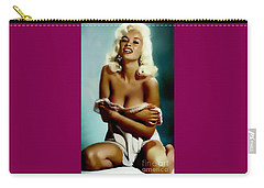 Jayne Mansfield - Watercolor Painting Carry-all Pouch