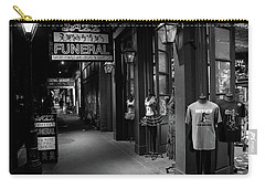Jazz Funeral In Black And White Carry-all Pouch