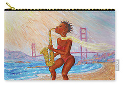 Carry-all Pouch featuring the painting Jazz San Francisco by Xueling Zou