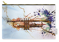 Jazz Trumpet Carry-all Pouch by David Ridley