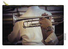 Jazz Trumpet New Orleans Carry-all Pouch by Garry Gay