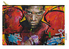 Carry-all Pouch featuring the painting Jean-michel Basquiat by Richard Day