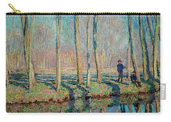 Jean Pierre Hoschede And Michel Monet On The Bank Of The Epte Carry-all Pouch