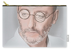 Carry-all Pouch featuring the mixed media Jean Reno by TortureLord Art
