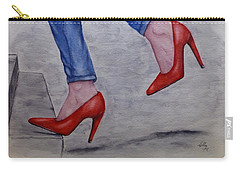 Jeans And Red Heels Carry-all Pouch