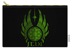 Jedi Symbol - Star Wars Art, Green Carry-all Pouch