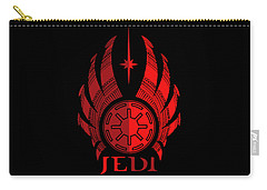 Jedi Symbol - Star Wars Art, Red Carry-all Pouch