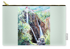 Jeeping At Bridal Falls  Carry-all Pouch