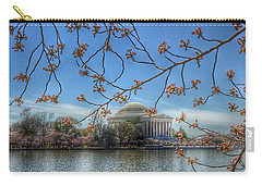 Jefferson Memorial - Cherry Blossoms Carry-all Pouch by Marianna Mills