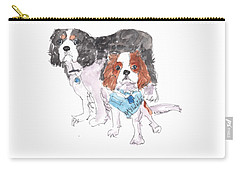 Jeffs Dogs Watercolor Kmcelwaine  Carry-all Pouch