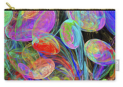 Carry-all Pouch featuring the digital art Jelly Beans And Balloons Abstract by Andee Design