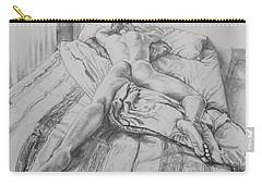 Jeremy On The Bed Carry-all Pouch