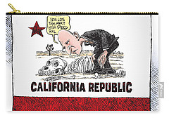 Jerry Brown - California Drought And High Speed Rail Carry-all Pouch