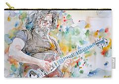 Jerry Garcia - Watercolor Portrait.15 Carry-all Pouch