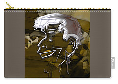 Carry-all Pouch featuring the mixed media Jerry Lewis Entertainer by Marvin Blaine