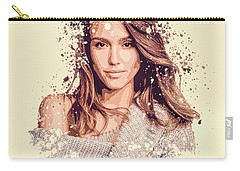 Jessica Alba Splatter Painting Carry-all Pouch