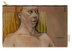 Carry-all Pouch featuring the painting Jessica S by Ray Agius