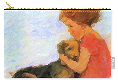 Jessie And Me Carry-all Pouch by Chris Armytage