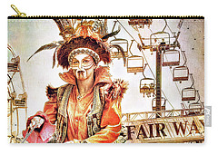 Jester Of The Fair Carry-all Pouch by Jennie Breeze