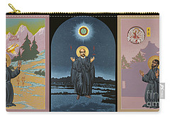 Jesuit Triptych-st Peter Faber-st Ignatius-st Francis Xavier Carry-all Pouch