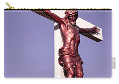 Carry-all Pouch featuring the photograph Jesus Crucifix Against The Sky 2 by Gary Whitton