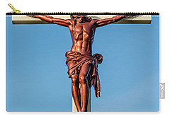 Carry-all Pouch featuring the photograph Jesus Crucifix Against The Sky 3 by Gary Whitton