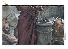 Jesus In Prison Carry-all Pouch by Tissot