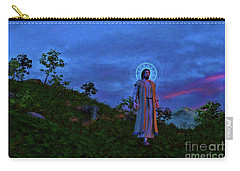 Carry-all Pouch featuring the painting Jesus Walks To The Town by Dave Luebbert