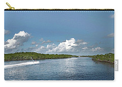 Carry-all Pouch featuring the photograph Jet Skiing by Judy Hall-Folde