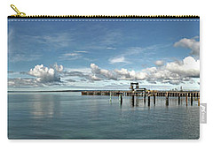 Carry-all Pouch featuring the photograph Jetty To Shore by Stephen Mitchell