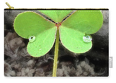 Jeweled Clover 3 Carry-all Pouch by Lorella Schoales
